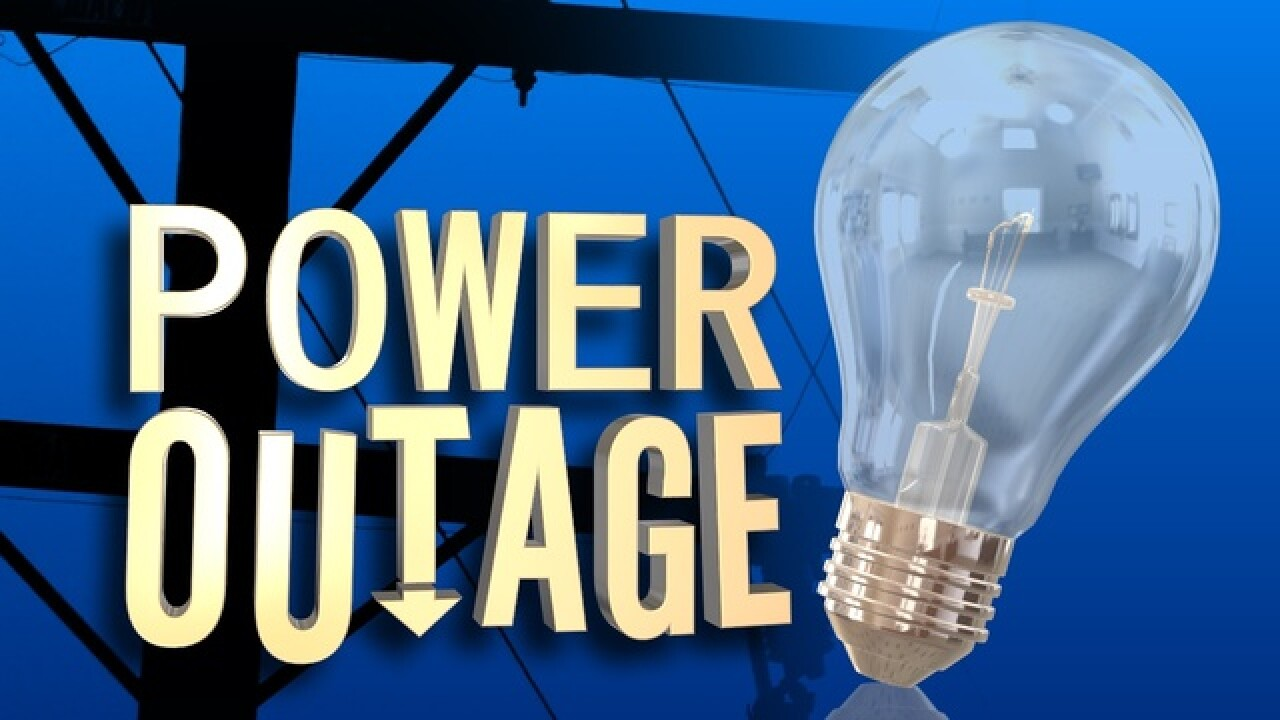 Nearly 3K customers without power this morning