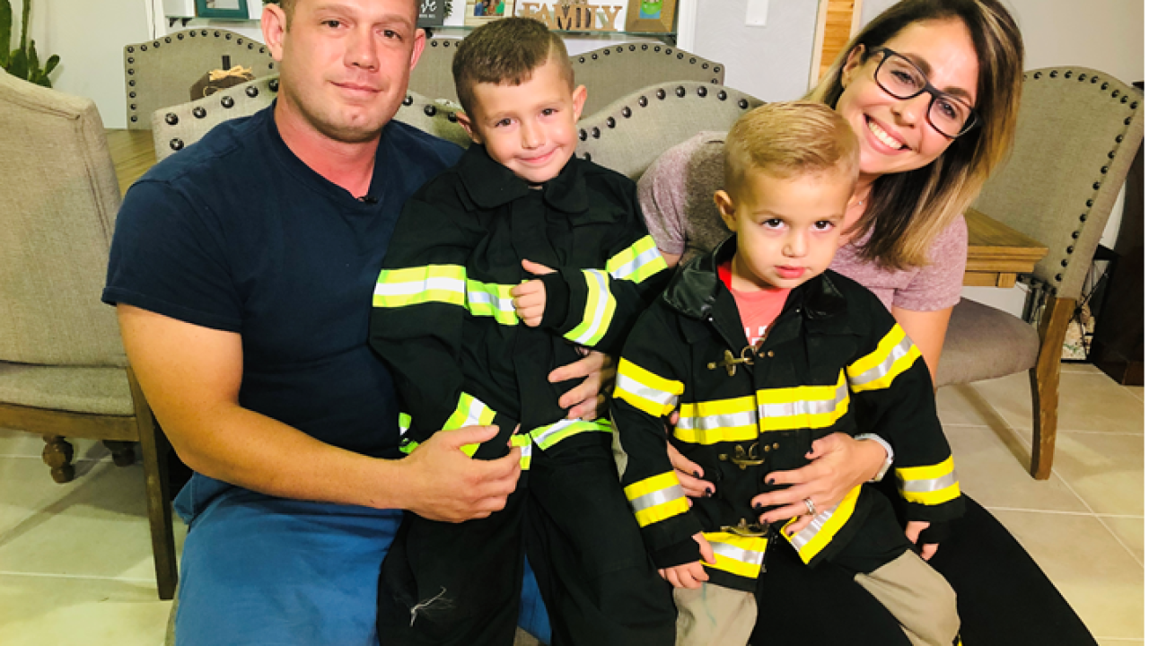 3-year-old firefighter in viral video shows it's never too early to learn how to save lives