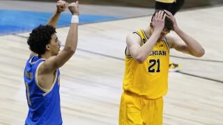 Franz Wagner APTOPIX NCAA UCLA Michigan Basketball