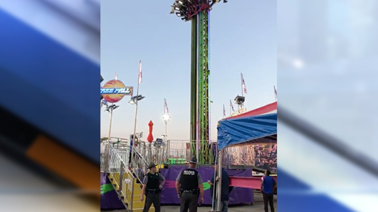 Passengers get stuck in midair on ride at Ohio State Fair on opening day