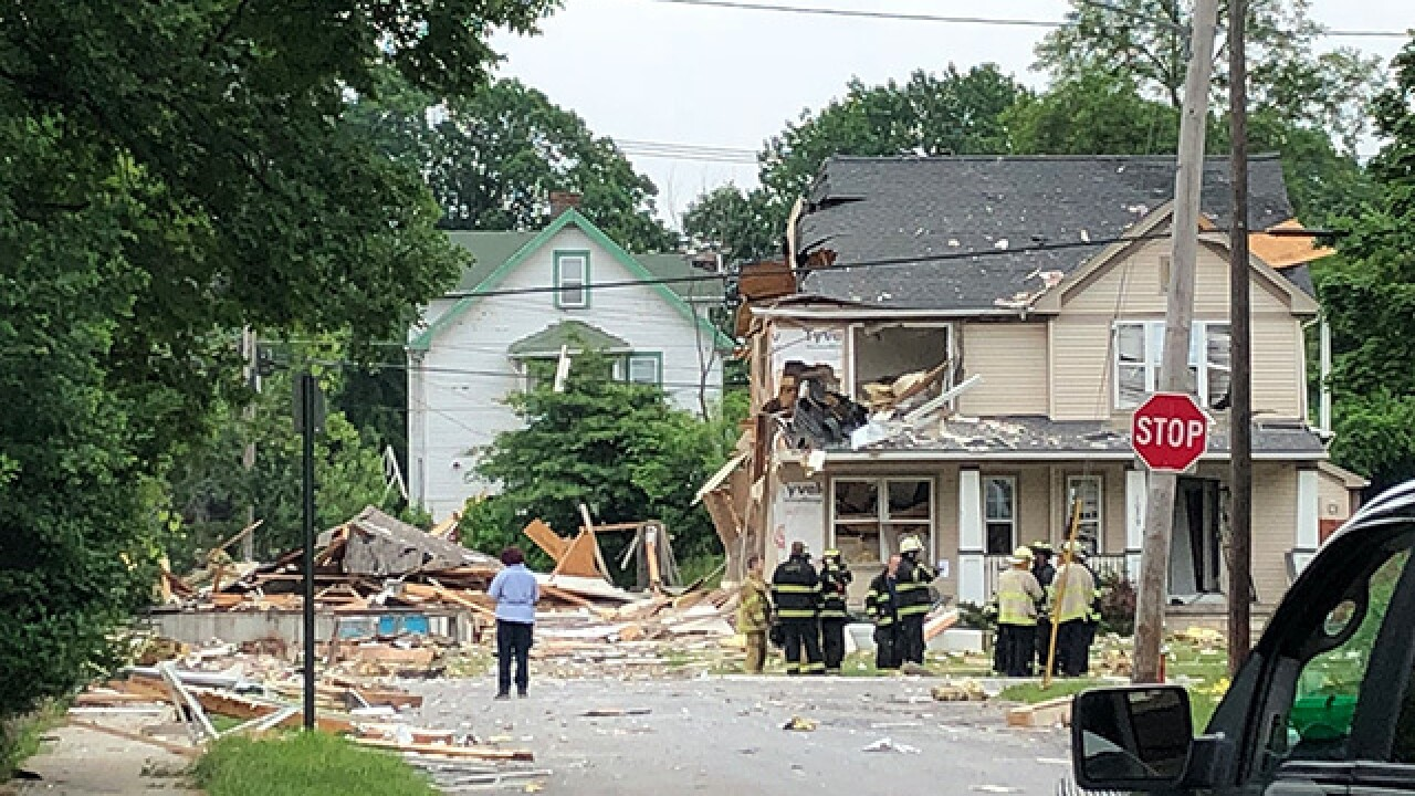 Home in Ohio destroyed in explosion