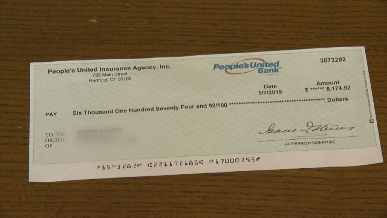 This is an example of a fake check that was sent to a woman in Wisconsin. Consumer protection experts identified issues with it.