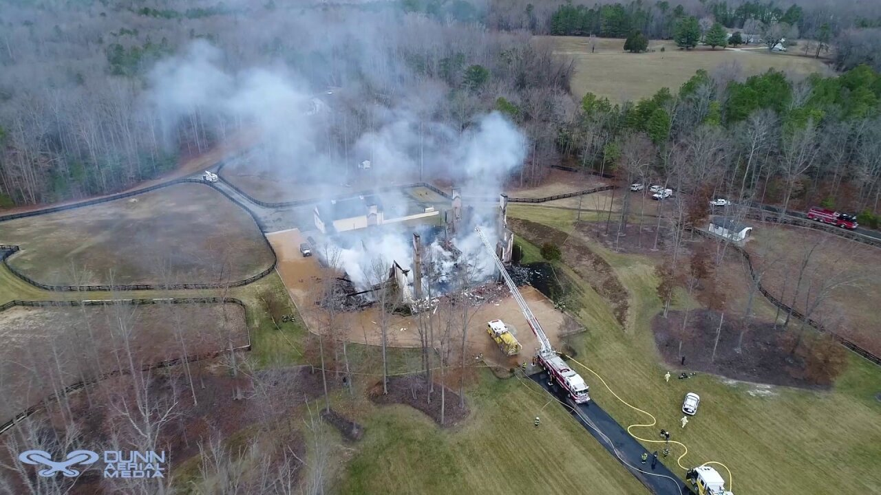 Foul play not ruled out as investigation of Powhatan mansion fire continues