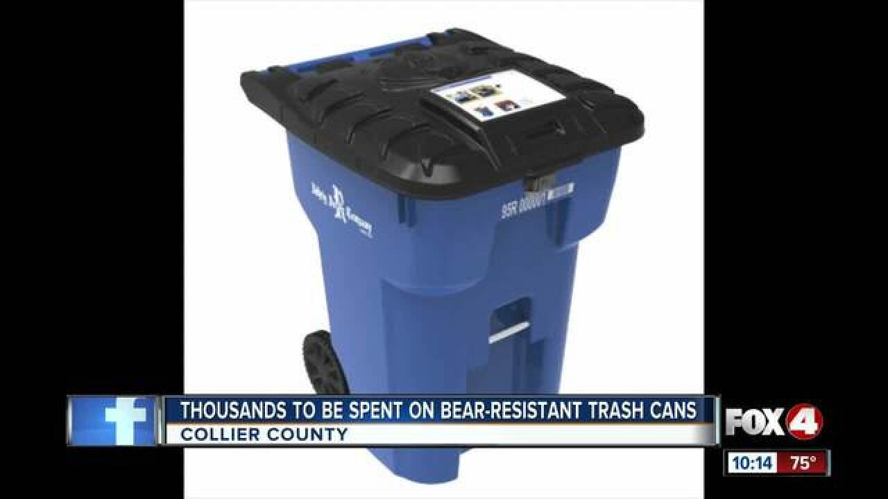 Collier awarded money for bear-proof trash cans
