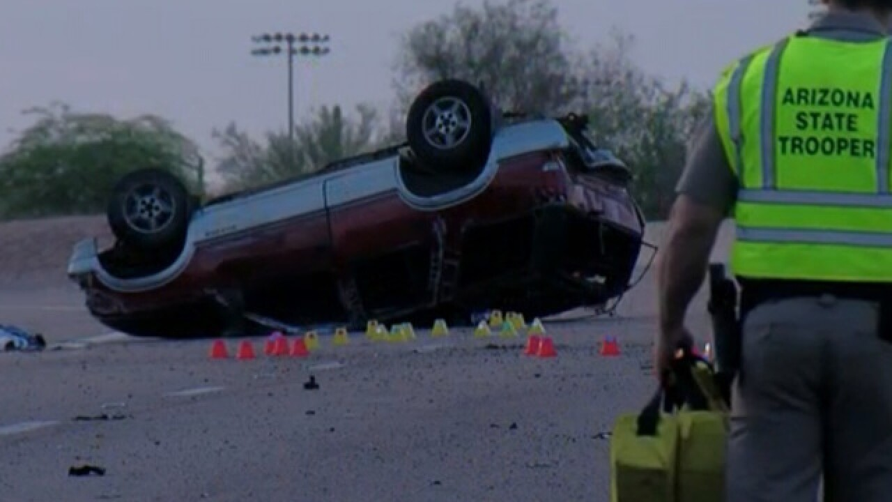 Deadly 2-vehicle wreck closes section of Loop 202 freeway