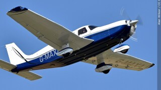 Piper PA-32 single-engine, fixed landing gear, light aircraft file photo stock image small airplane plane September 2, 2018.jpg