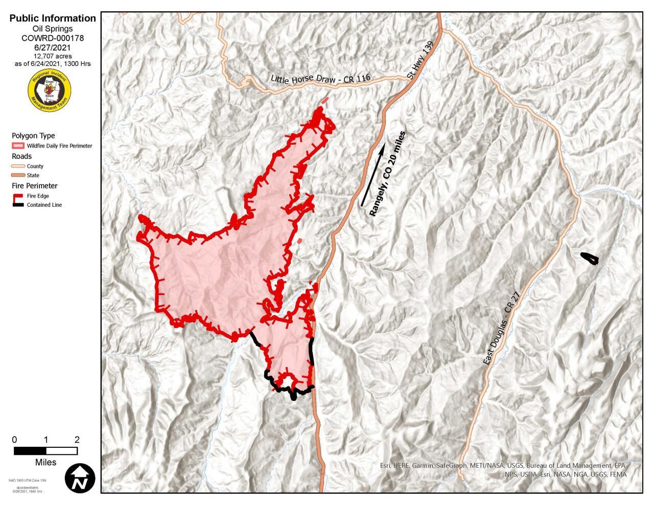 Oil Springs Fire June 27, 2021