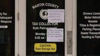 Martin County tax collector office closed