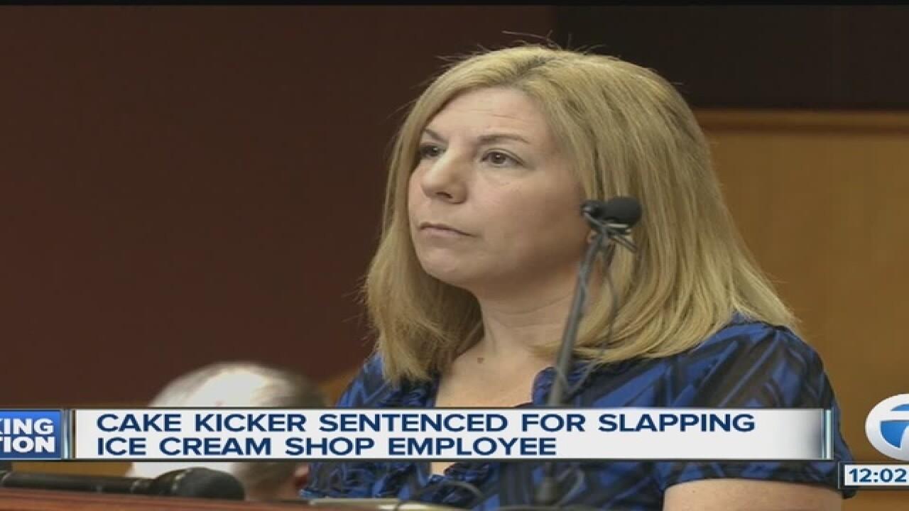 Cake kicker sentenced in ice cream shop assault