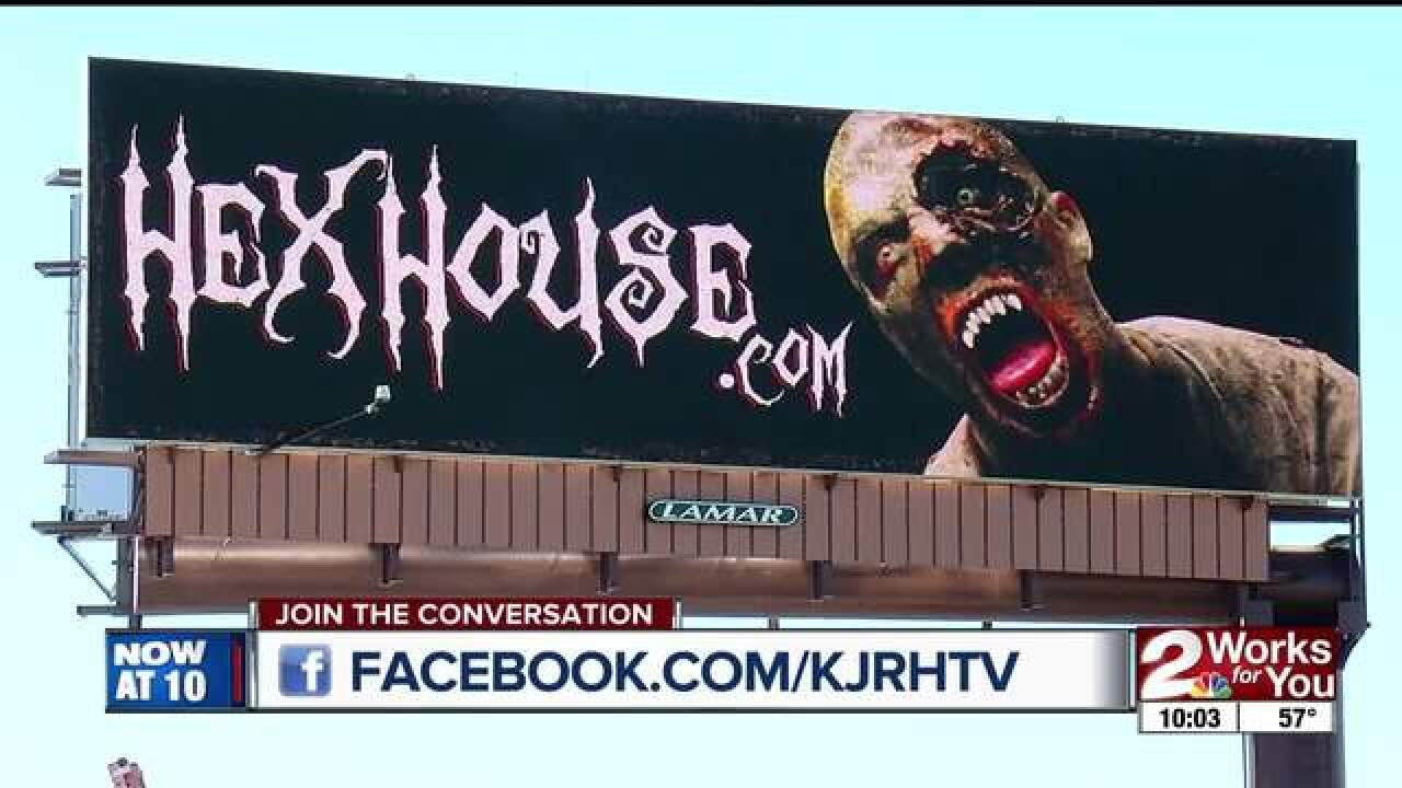 Controversy over Hex House billboard