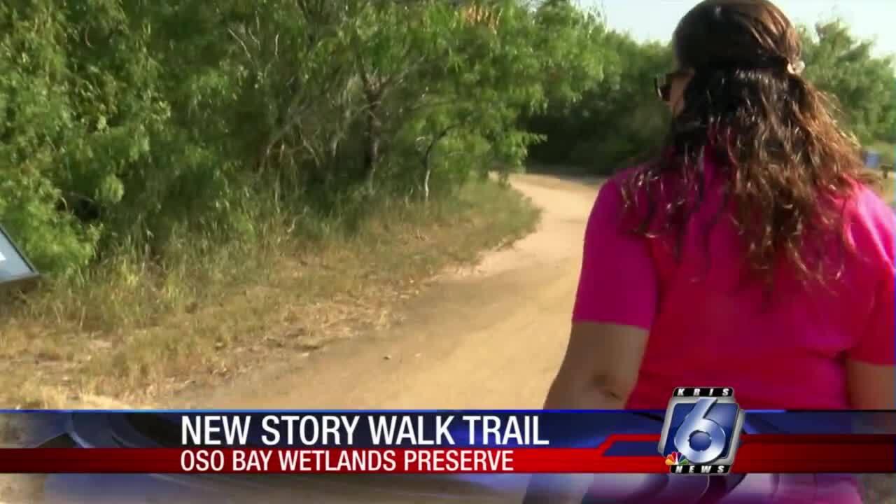 New Story Walk trail at Oso Bay Wetlands Preserve