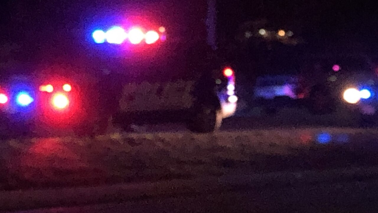Two people were wounded in a shooting at a Petersburg gas station Sunday night. (SOURCE: WTVR CBS 6 Photojournalist Todd Haas.)