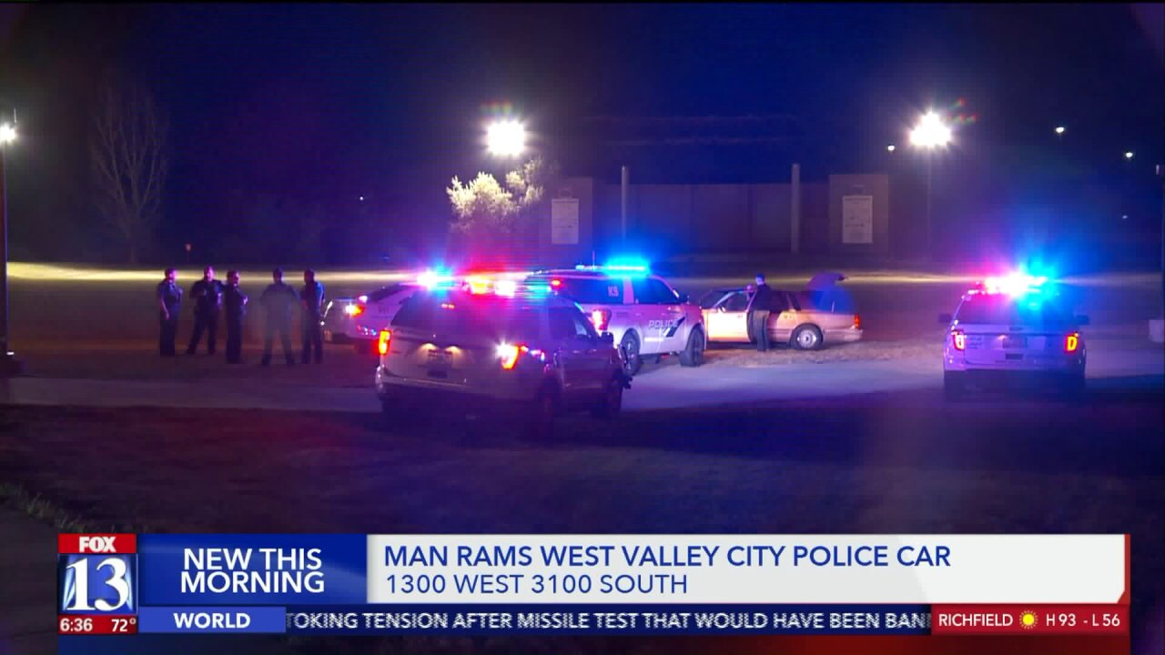 Man arrested after ramming police car during chase in West Valley City