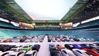 Hard Rock Stadium drive-in theater rendering