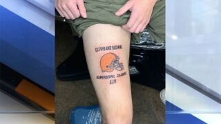 Browns superfan makes bold prediction, gets Super Bowl tattoo