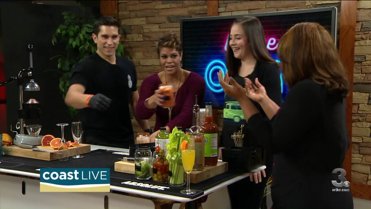 Making Mimosas and Bloody Marys for post holiday fun on CoastLive