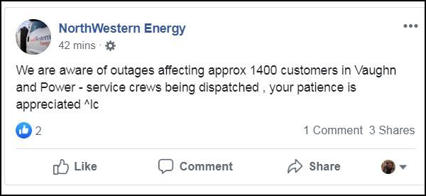 Power outages affecting hundreds of people near Great Falls