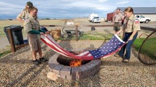 Helena boy scouts hold flag retirement ceremony
