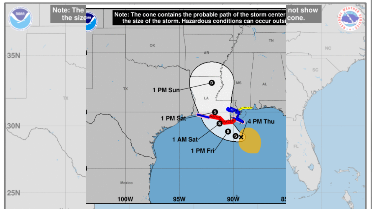 From New Orleans Warnings For Texas >> The Latest Hurricane Warning Issued For Louisiana