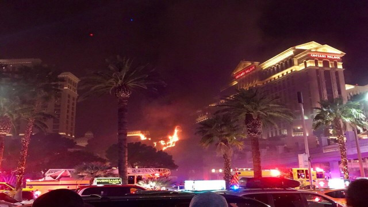 Crews knock down fire on Bellagio roof