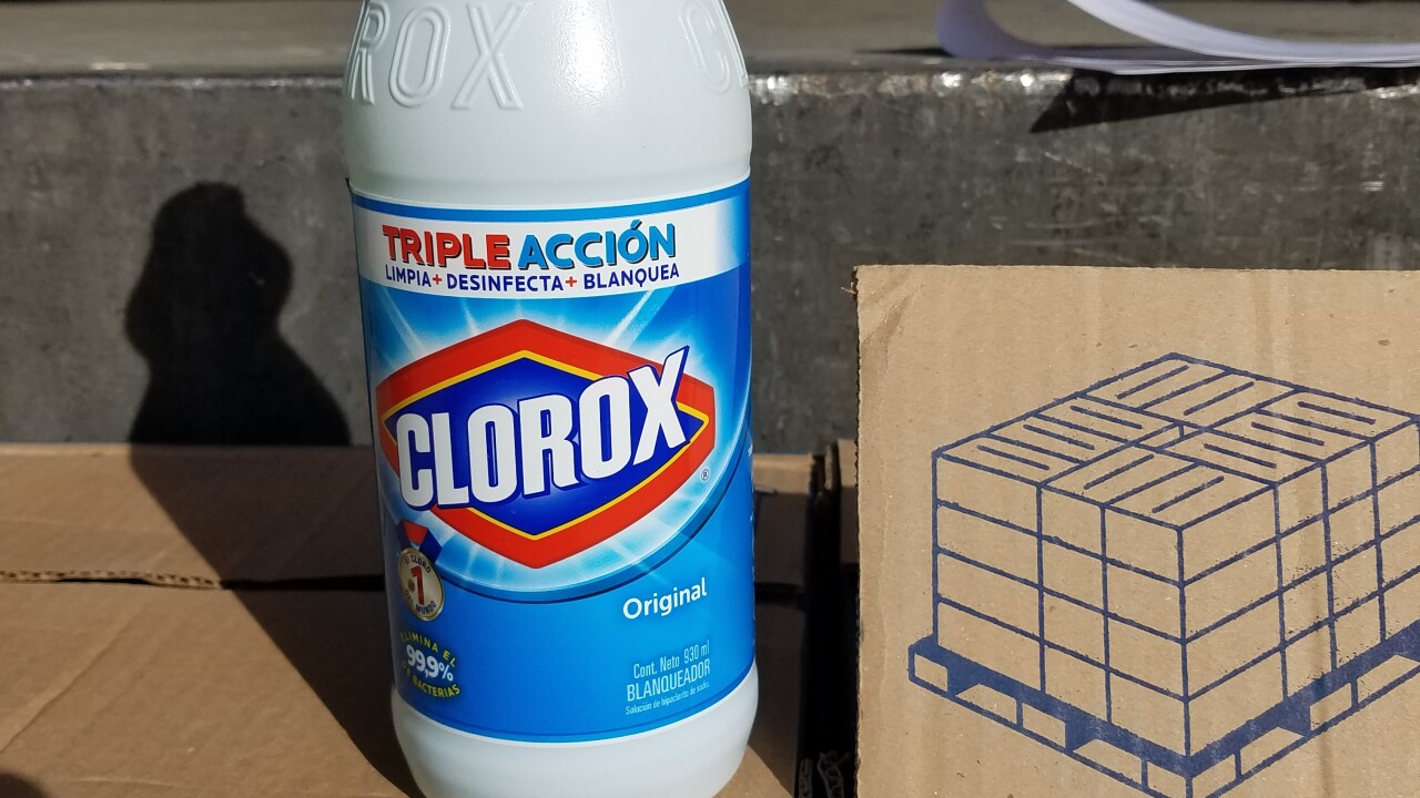 Homeland Security Investigations officers seized several boxes of diluted cleaning products at the border in Nogales.