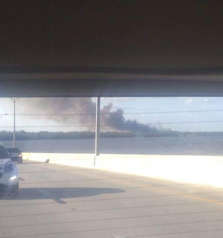 Brush fire on edge of North Fort Myers and SE Cape Coral