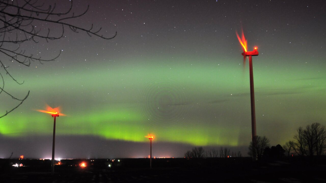 The northern lights will be visible as far south as Wisconsin and Michigan over Labor Day weekend