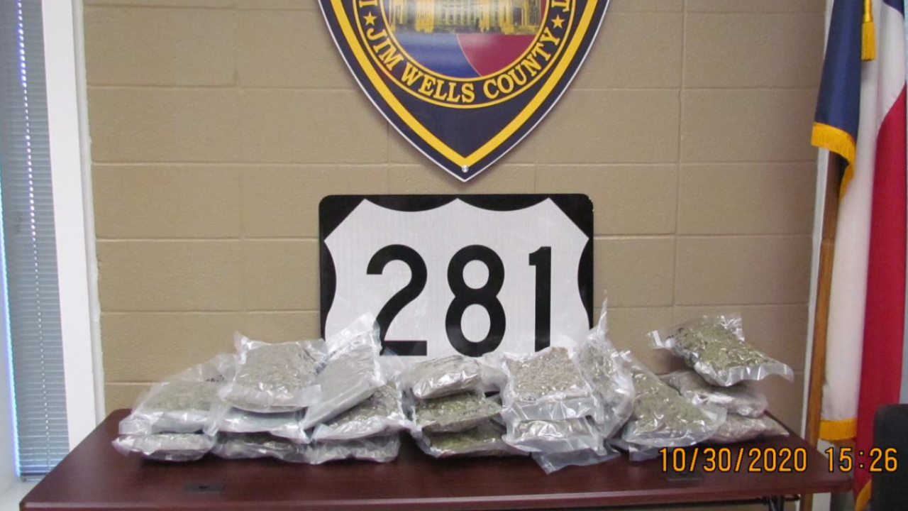Drug Bust: 20 pounds marijuana confiscated in Jim Wells County
