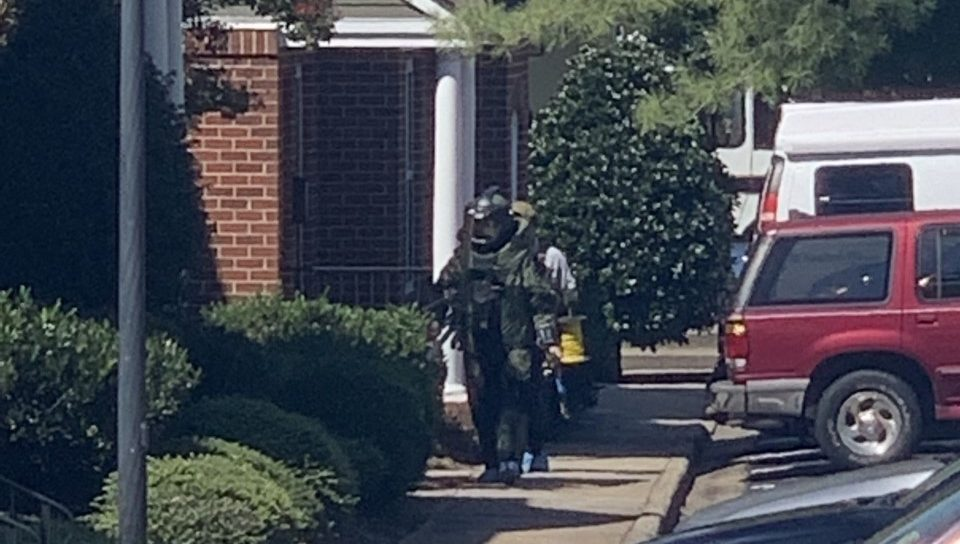 Photos: Suspicious package rendered safe; police still in Henrico neighborhood