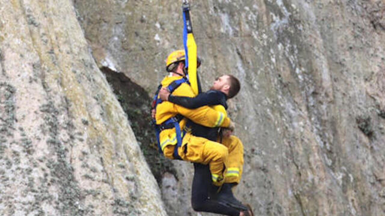 Man who scaled cliff to arrested for drugs