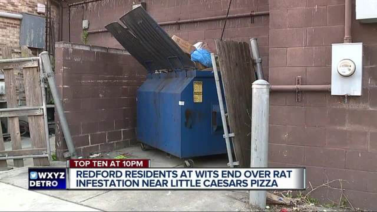 Rat infestation blamed on pizza restaurant