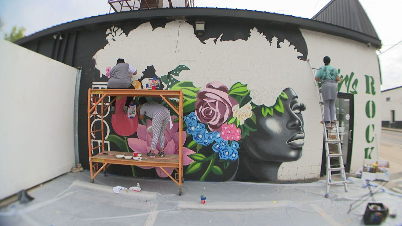 Creative Girls Rock Mural