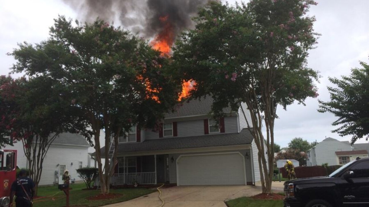 Three people displaced after Suffolk home fire