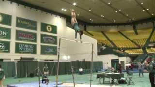 Tribe Gymnastics dismantles opponent on SeniorDay