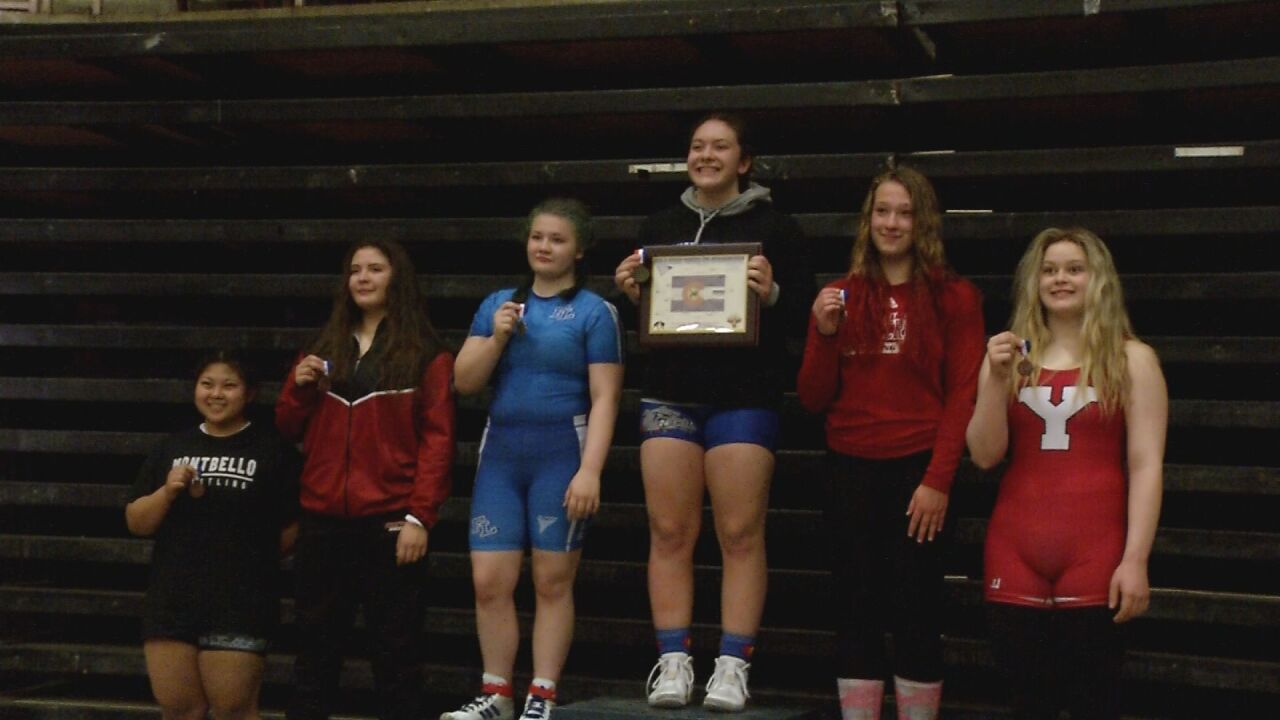 Calhan claims history in first ever CHSAA sanctioned girl's wresting tournament