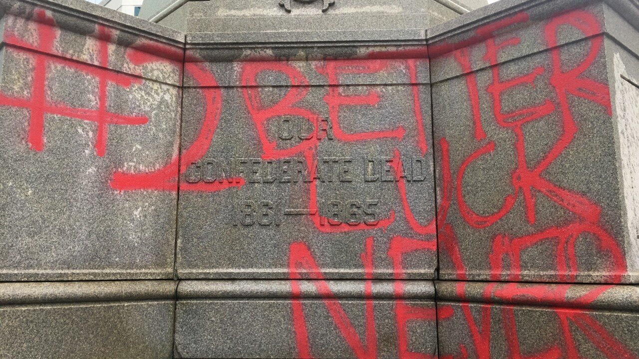 Norfolk Confederate Monument vandalized early Monday