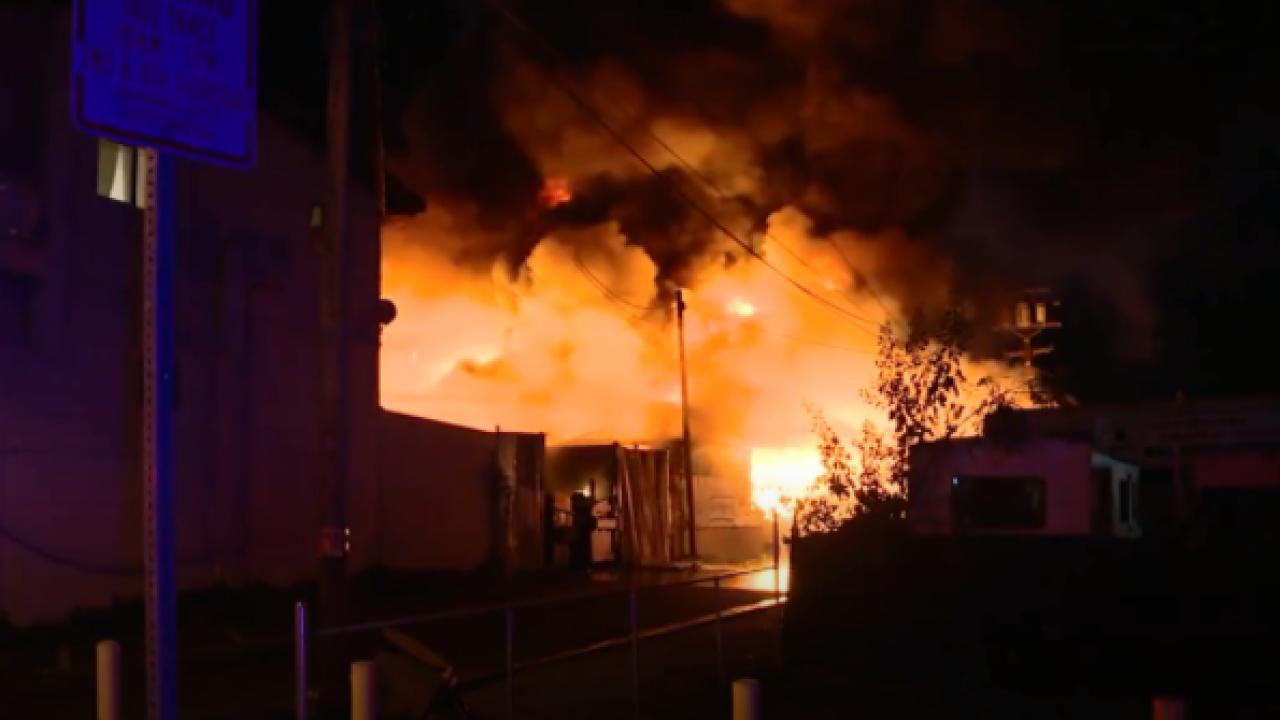 Vista Businesses fire