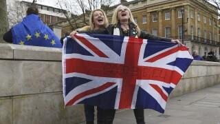 Photos: Britain leaves the European Union, leaps into theunknown