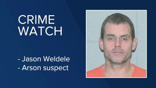 Jason Weldele was booked into the Flathead County Detention Center on a pending felony charge of arson