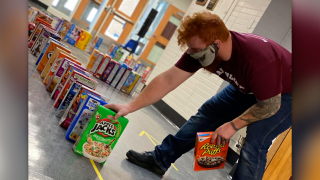 Watervliet Public Schools collects 600 donated cereal boxes.png