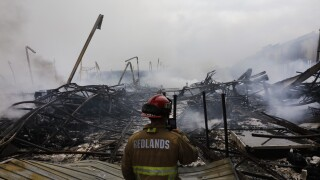 Fire destroys Southern California warehouse linked to Amazon