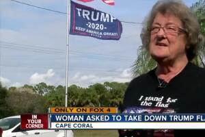 President Trump flag causes controversy in Cape Coral, Florida neighborhood