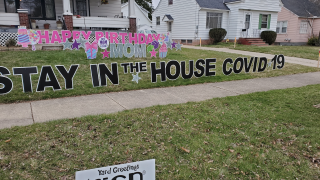 Maple Heights COVID 19 birthday sign