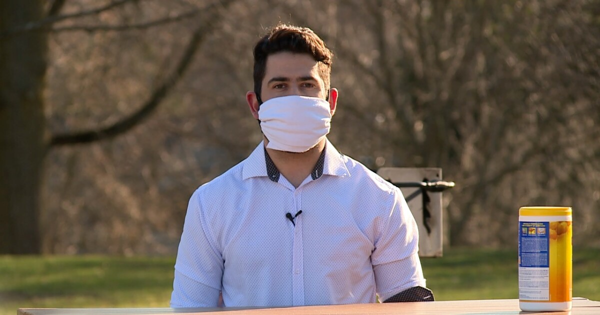 CDC recommends covering your face in public; here's one easy way to make a mask