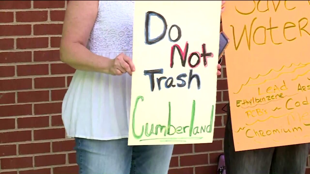 'This is poison:' Neighbors sound off to stop proposed landfill in Cumberland