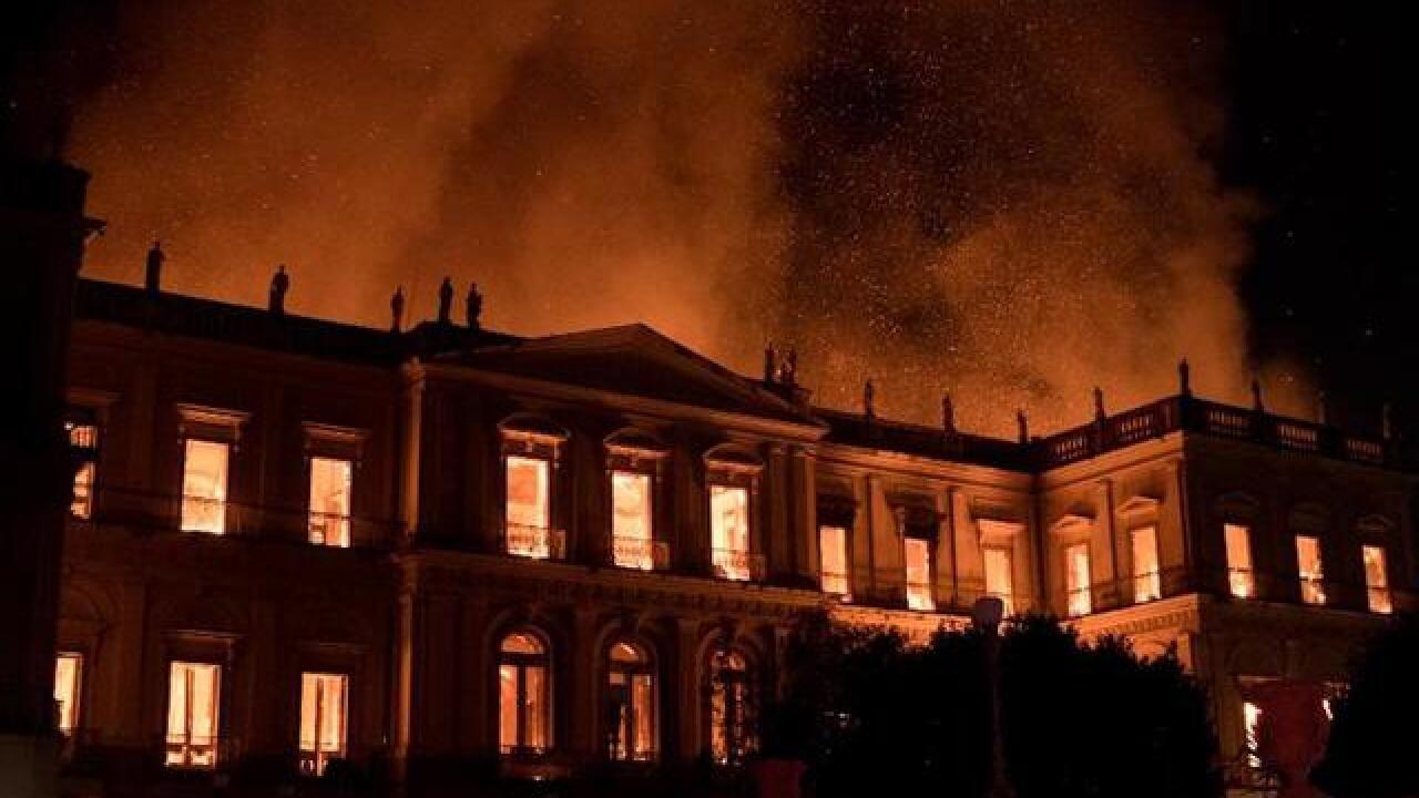 Inferno at Brazil's National Museum causes 'irreparable' damage and grief