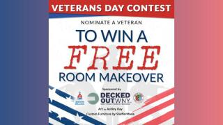 A veteran you know could win a room makeover thanks to local businesses