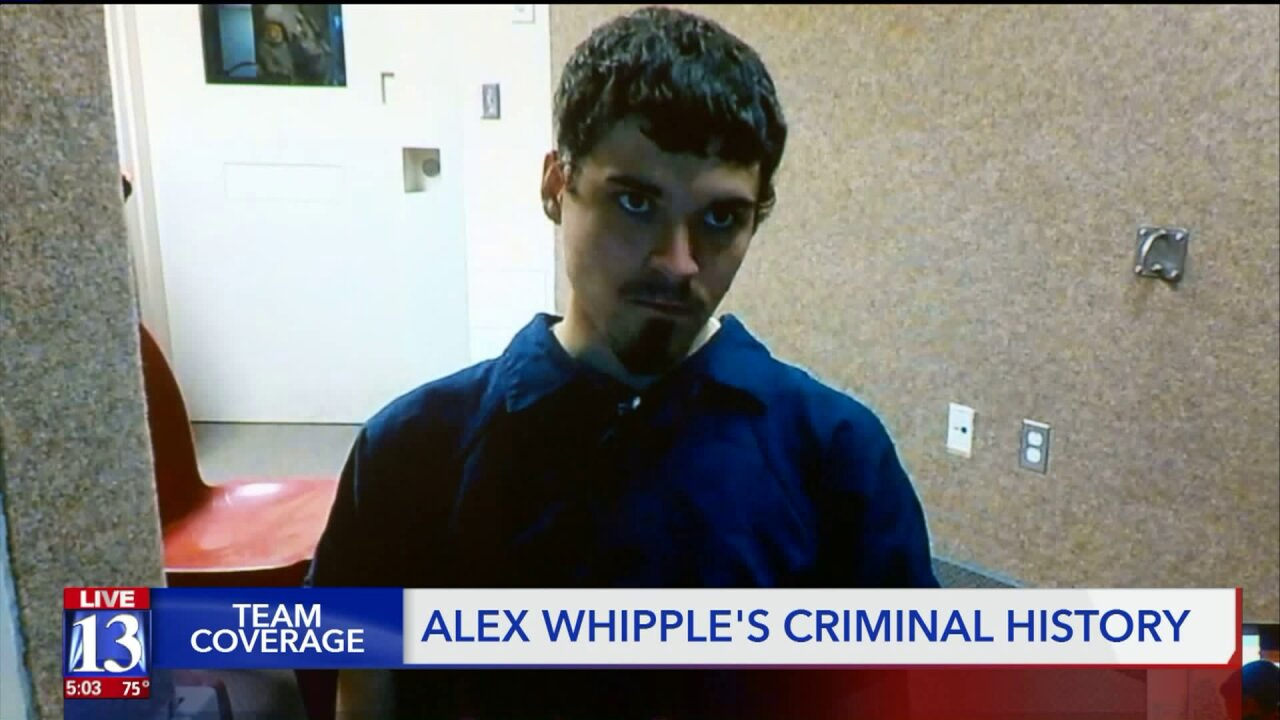 Alex Whipple's criminal history shows this isn't his first time behindbars
