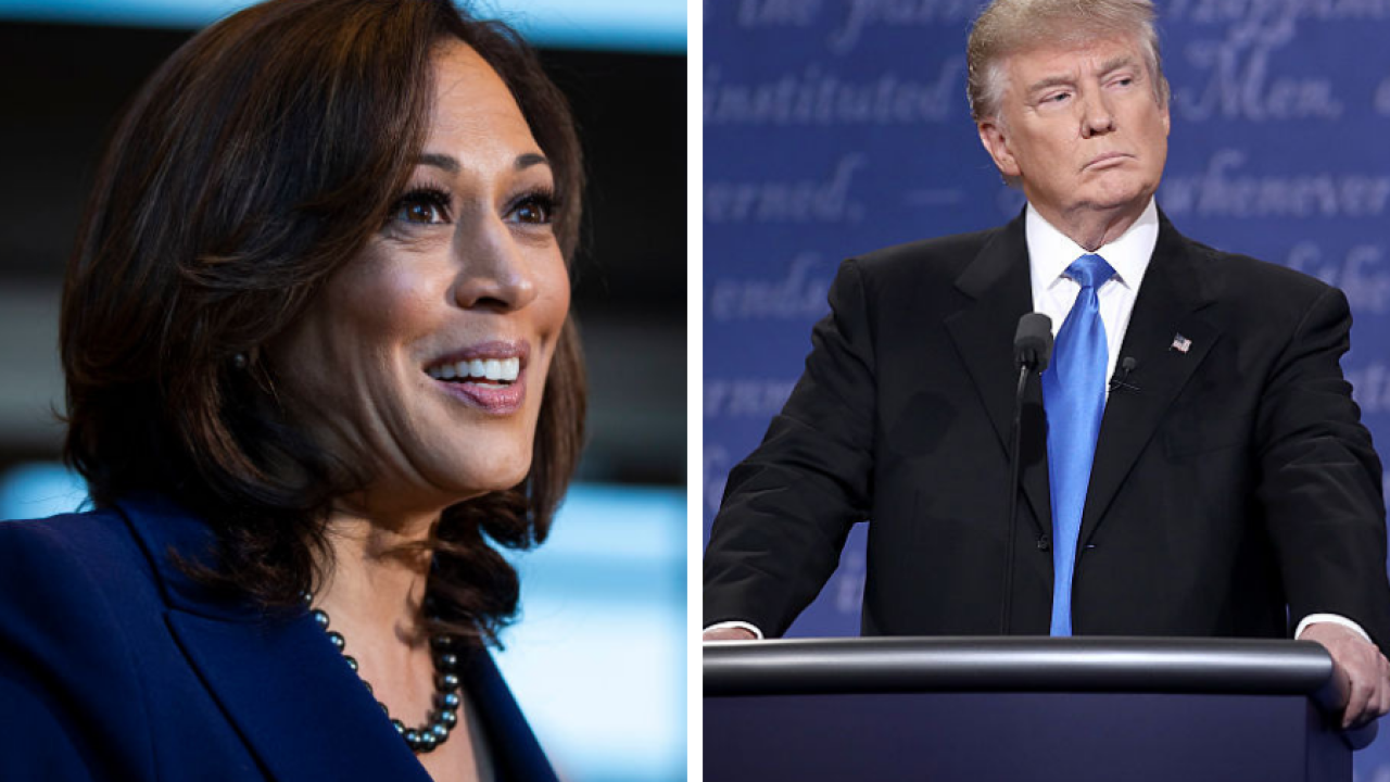 Kamala Harris says Trump's Twitter account should be suspended