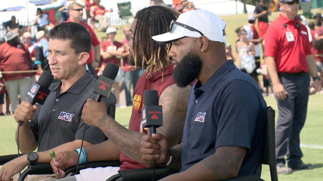 'Skins scoop: 14-year NFL veteran DeAngelo Hall talks QB competition and NFL Networkgig
